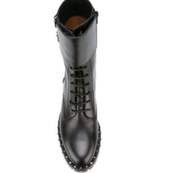 dcd0a9c179a405 💖VALENTINO GARAVANI Rockstud Leather Combat Boots.  M 5a5fc64e8df47060ac641568